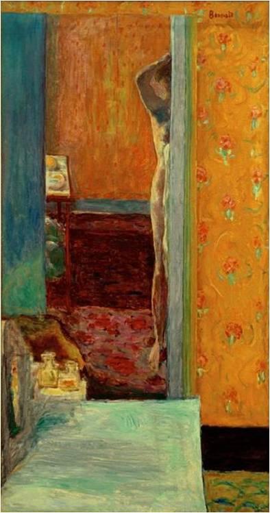 Tableau : Pierre Bonnard, Nu dans un intérieur, 1912-1914, huile sur toile, H. 134 ; L. 69,2 cm