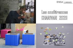 Visuel des conférences Charivari 2020