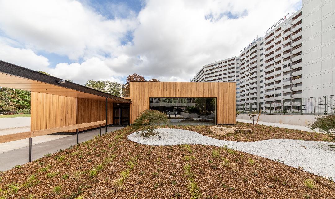Visuel conférence de Marie Schweitzer, construction bois