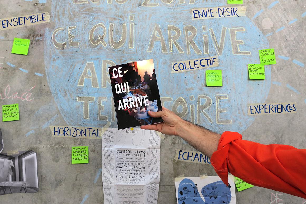 """Photo : visuel ARC Expérience du territoire """"ce qui arrive"""""""