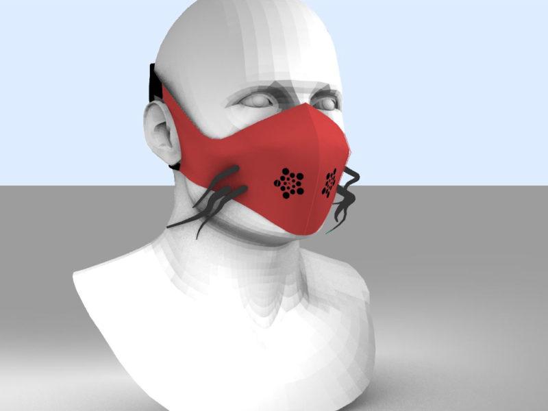 Image : masque réalisé avec un logiciel de 3D