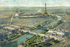 Image : vue panoramique de l'exposition universelle, Paris, 1900