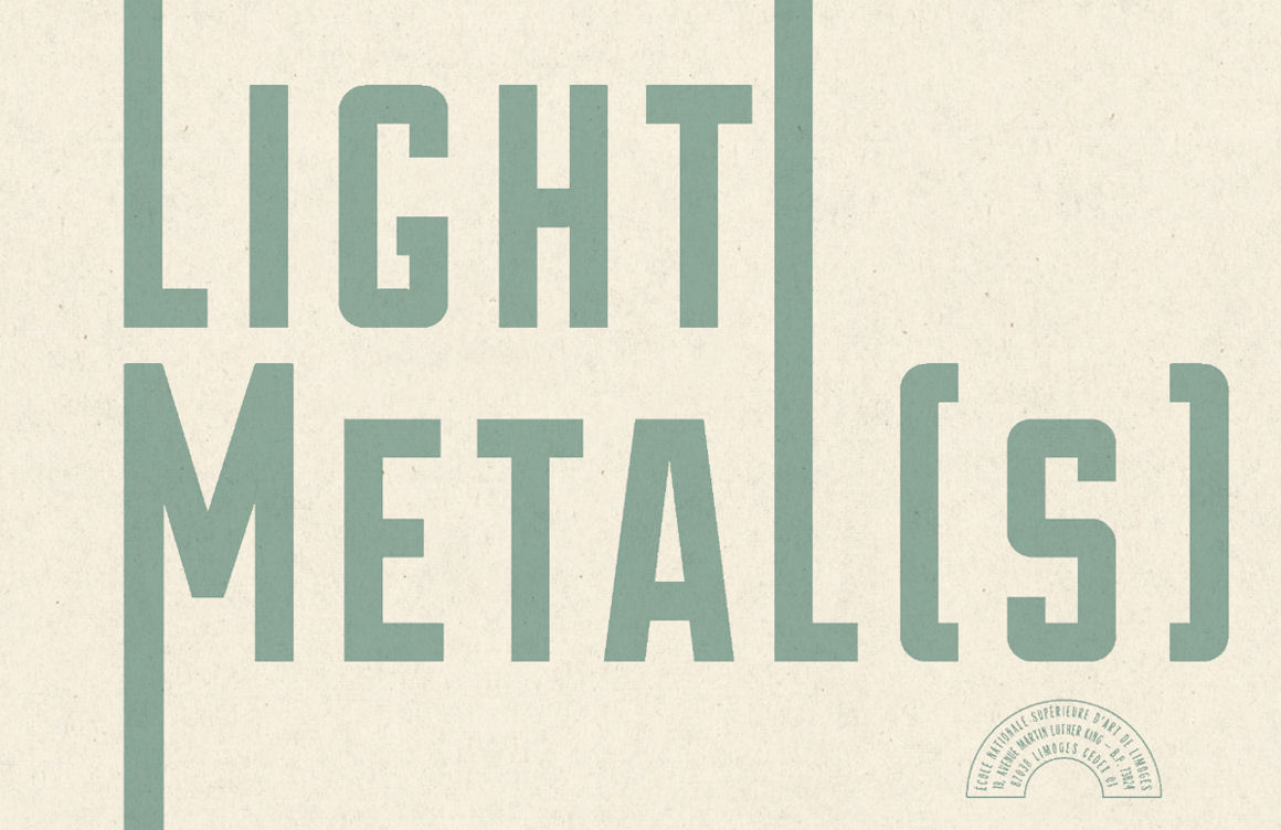 Image : page de garde du livret Light Metal[s]