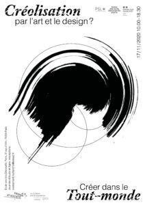 affiche : Journée d'étude Créolisation par l'art et le design ? Créer dans le Tout-monde