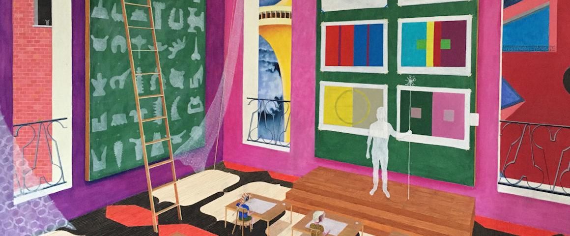 Peinture : Alain Doret, illustration pour l'Arc Couleurs de l'incertitude