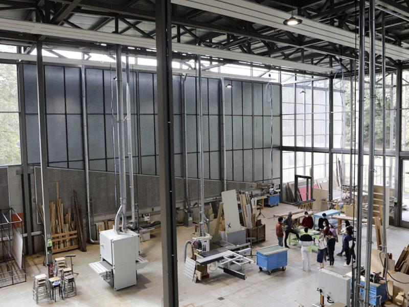 Photo : nouveaux ateliers de l'ENSA. Crédit photo : Marie-Pierre Saunier