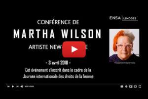 Image : youtube, conférence de Martha Wilson
