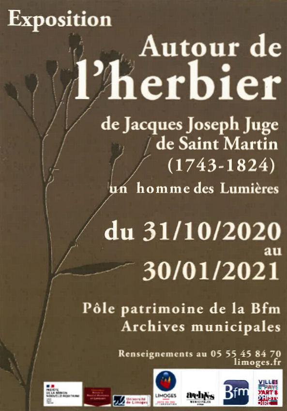 """Image : exposition BFM """"Autour de l'herbier"""" de Jacques Joseph Juge"""