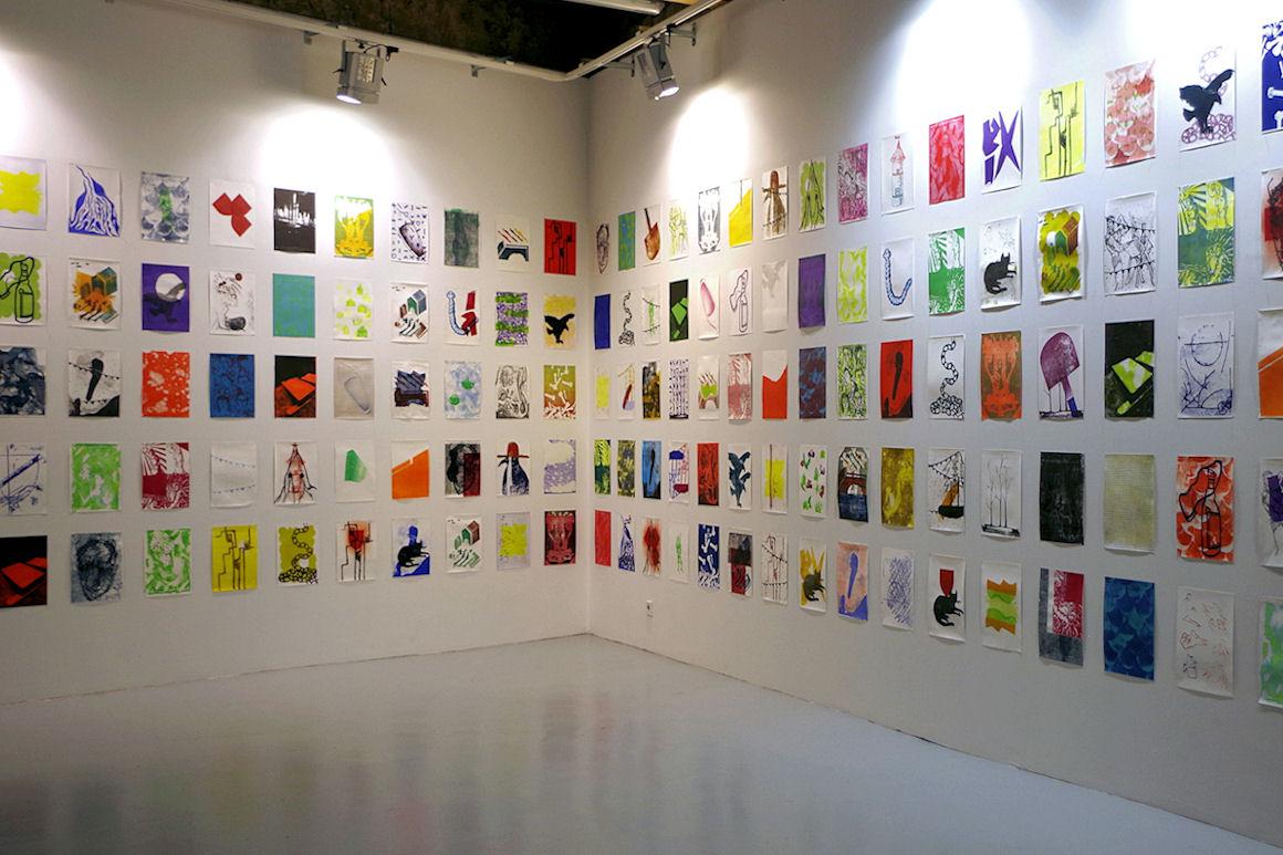 Photo : workshop lithographie avec Paul Cox