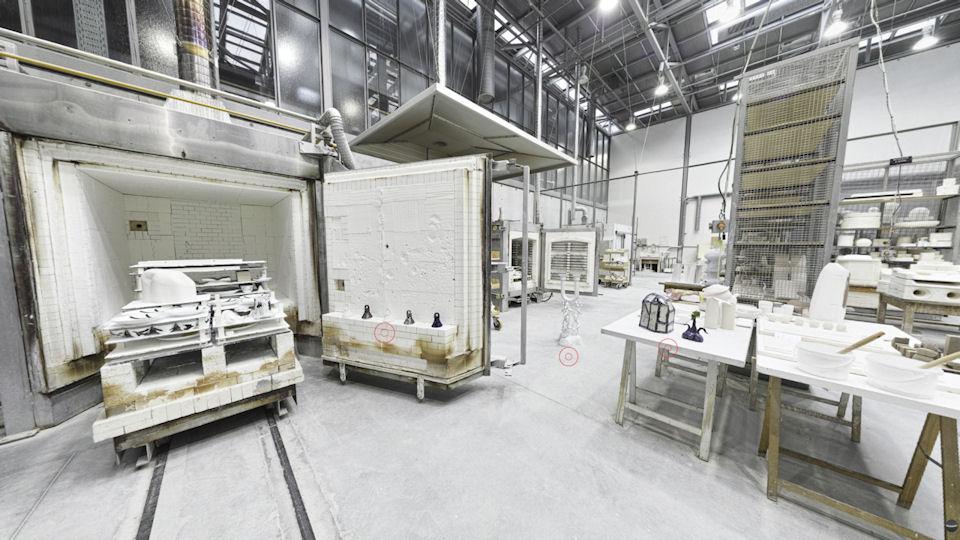 Image-lien pour découvrir l'exposition 360° de la galerie virtuelle CCE à l'atelier porcelaine ENSA Limoges