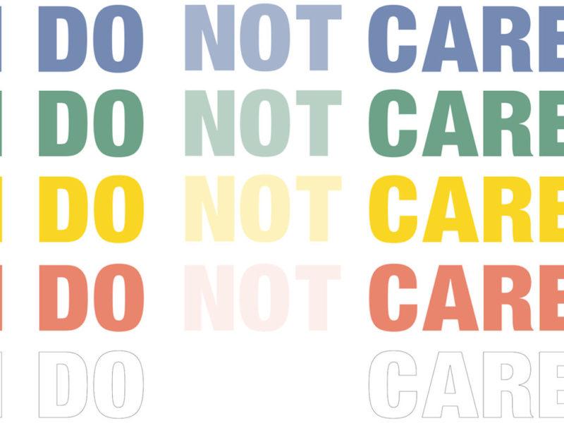 """Image : visuel de l'exposition """"I do not care"""""""
