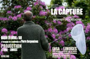 Visuel : conférence de pierre bergounioux - film La capture par Geoffrey Lachassagne