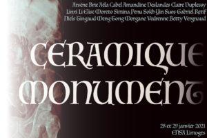 affiche expo céramique monument