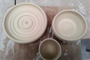 workshop iat meknes, tournage porcelaine