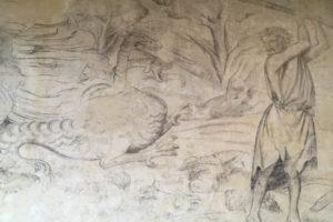 Photo : fresque au musée de Rochechouart