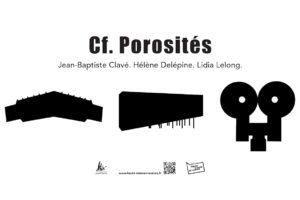 """Affiche : exposition """"cf-porosités"""""""