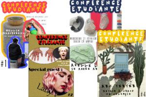 Image : montage des visuels des conférences étudiantes 2017-2018