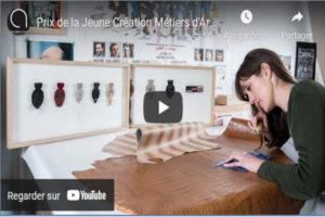 Visuel : vignette de la vidéo Youtube pour le Prix de la jeune création métiers d'art 2107, Marie Masson