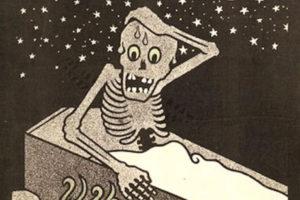 Image : Henri Gustave Jossot (1866-1951), illustration « j'ai rêvé que j'étais vivant! » in L'assiette au beurre, n°156, mars 1904.