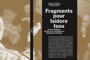Image : page de couverture de la publication Fragments pour Isidore Isou