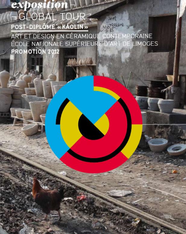 """Image : page de garde de la publicatino relative à l'exposition """"Global Tour"""" par le post-diplôme kaolin en 2012"""