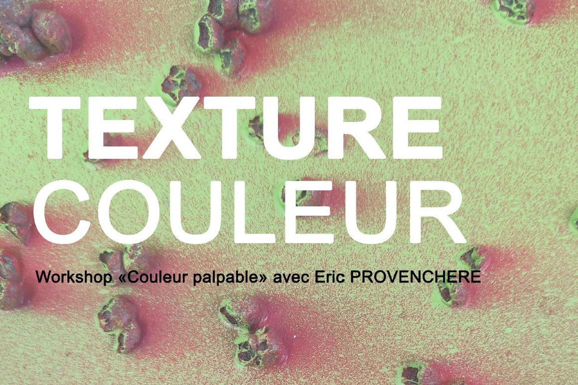 """Affiche : visuel du workshop """"couleur palpable"""""""