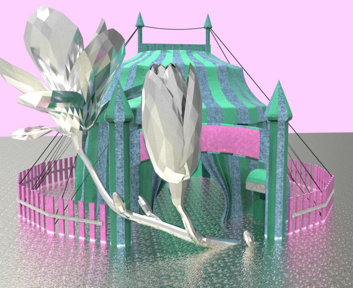 Image : visuel Sirque de Nexon pour expo Jeanne Ducau et Clara Lou Villechaise