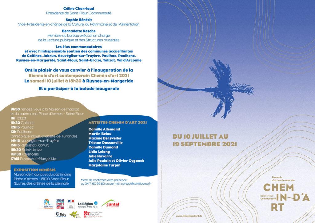 Image : programme de la biennale de saint Flour