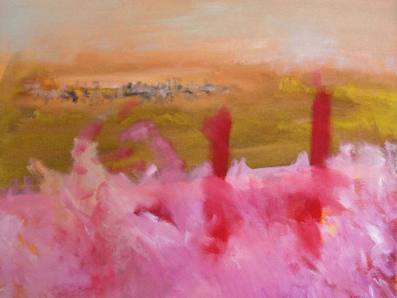 Photo : Ou le soleil, 2021, huile sur toile, Emmanuelle Rosso
