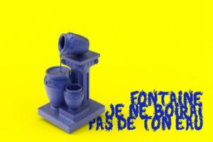 """Image : inauguration, exposition """"fontaine je ne boirai pas de ton eau"""""""