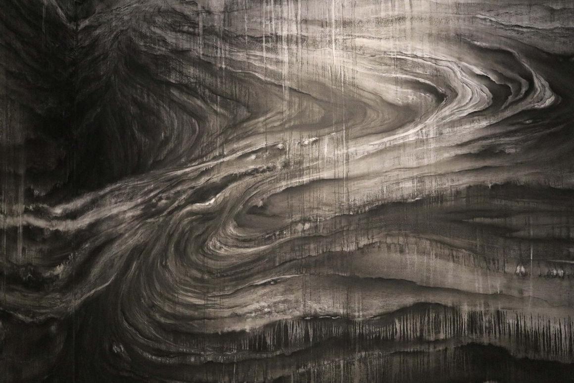 Vertigo (détail)_Esquisse murale_Ariane Monod_Musée Jenisch Vevey © Photographie Nicole Bernard