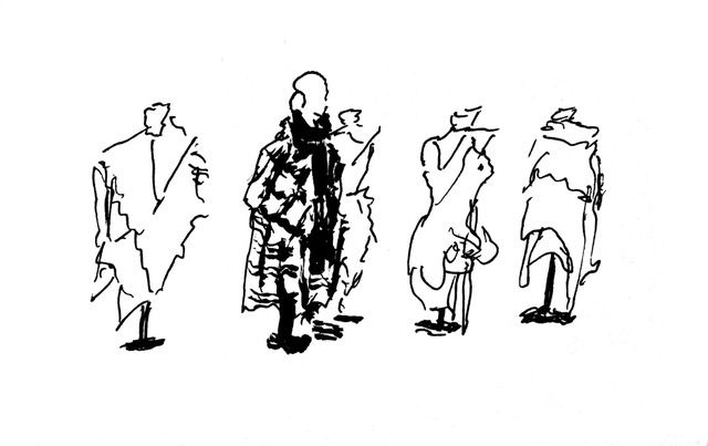 Dessin de Jean-Marc Montels - Lancement triennale art nOmad à Paris au CentQuatre