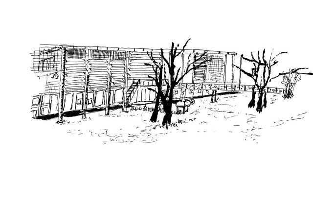 Dessin de Jean-Marc Montels - Lancement triennale art nOmad à l'ENSA Limoges