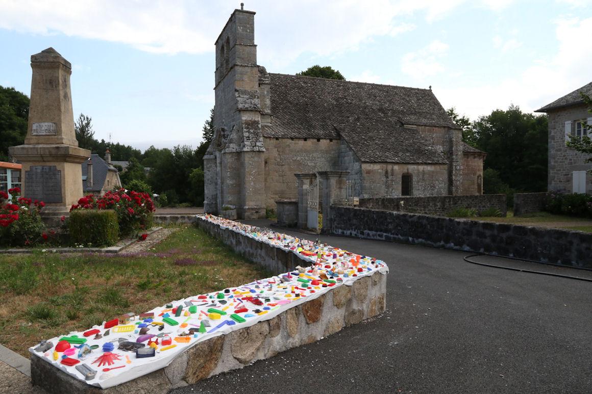 Construction du musée éphémère de Saint-Pardoux-la-Croisille